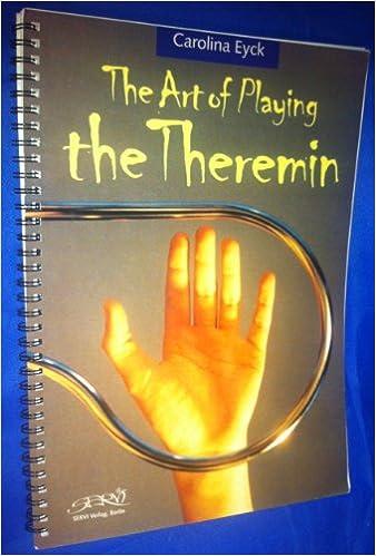 The Art Of Playing Theremin Carolina Eyck 9783933757081 Books