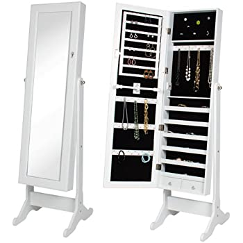 Amazon Com Best Choice Products Mirrored Jewelry Cabinet