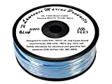 14 AWG Tinned Marine Primary Wire, Blue, 100 Feet