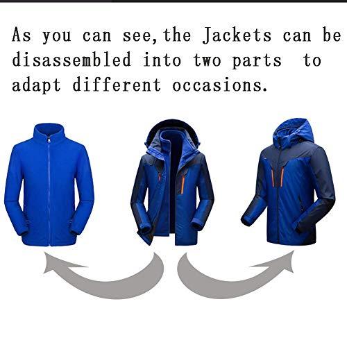 Alpinismo Sportwear Blau Invernali Esterna Fashion Impermeabile Campeggio 1 In Caldi Escursionismo Leggeri Felpe Abiti Cappuccio Uomo Giacca Uomini Con Comode 3 Taglie Hx YRqpxTwZBZ