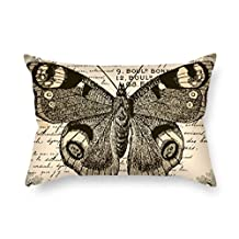 beautifulseason The Butterfly throw cushion covers of ,16 x 24 inches / 40 by 60 cm decoration,gift for lounge,chair,divan,bench,car seat,gril friend (twin sides)