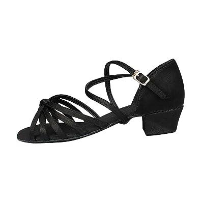Girls Ballroom Dance Shoes Latin Tango Dance Shoes Women Black Modern Shoes