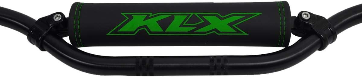 logo verde Paracolpi manubrio per Kawasaki KLX