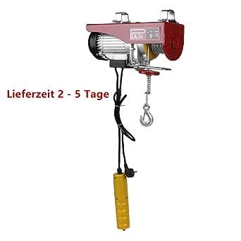 Elektrische Seilwinde Motorwinde Flaschenzug Kran Seilzug Winde f/ür bis 200 kg 12m Stahlseil SCHMIDT security tools