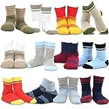 TeeHee (Naartjie) Kids Boys Cotton Basic Crew Socks 12 Pair Pack