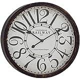 """Deco 79 52124 Wood Wall Clock 24"""" D -"""