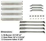 DOZYANT Parts Kit Replacement Charbroil Gas Grill Burners, Stainless Steel Heat Plates and Crossover Tubes