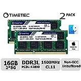 Timetec Hynix IC Apple Compatible 16GB Kit (2x8GB) DDR3L 1600MHz PC3L-12800 SODIMM Memory Upgrade For MacBook Pro13-inch/15-inch Mid 2012