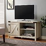 WE Furniture AZ44BD1DWO Barn Door TV Stand, White Oak
