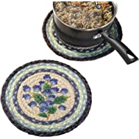 Earth Rugs 80-312 Printed Round Swatch, Blueberry, 10-Inch