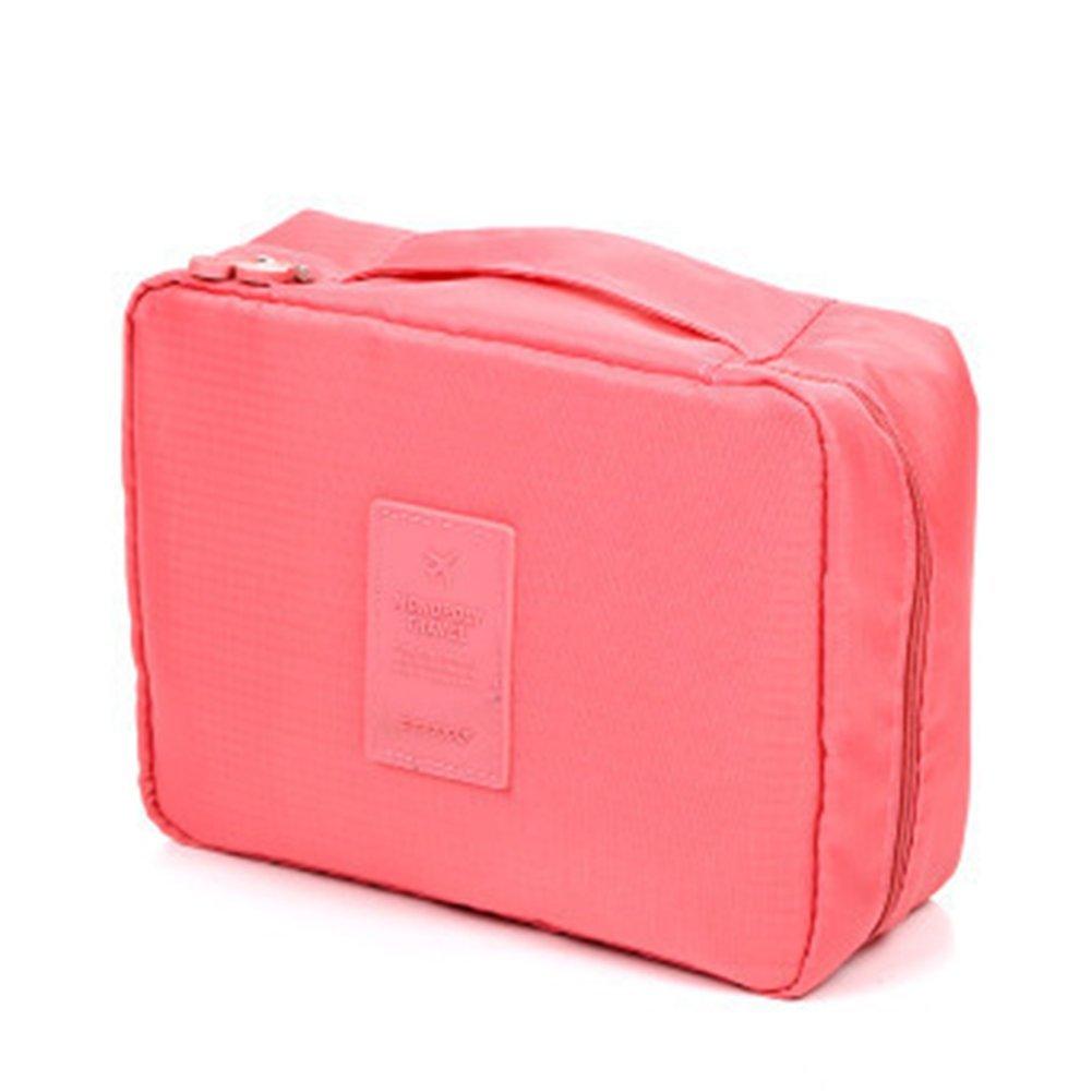 Hosaire Travel Cosmetic Handbag Women Travel Organiser Insert Tidy Bag Purse Large Liner Organizer Pink