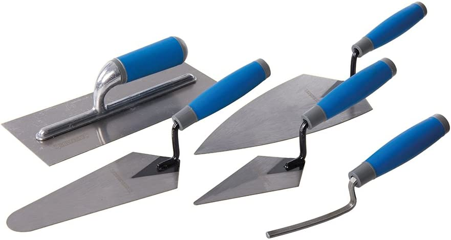 Trade Trowel Set Soft Grip Pointing Gauging Plastering Trowel brick Jointer 5Pc