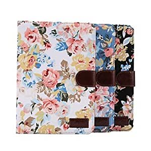 CeeMart Flower Style Full Body Leather Case with Card
