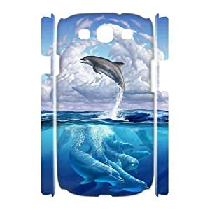 Diy Cute Dolphin Phone Case for samsung galaxy s3 3D Shell Phone JFLIFE(TM) [Pattern-1]