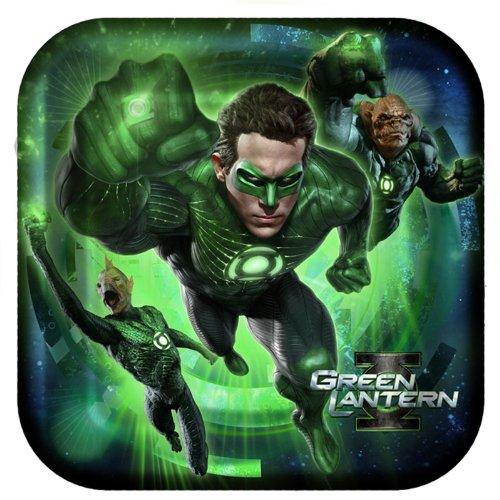 Green Lantern Large Paper Plates (8ct) by Hallmark