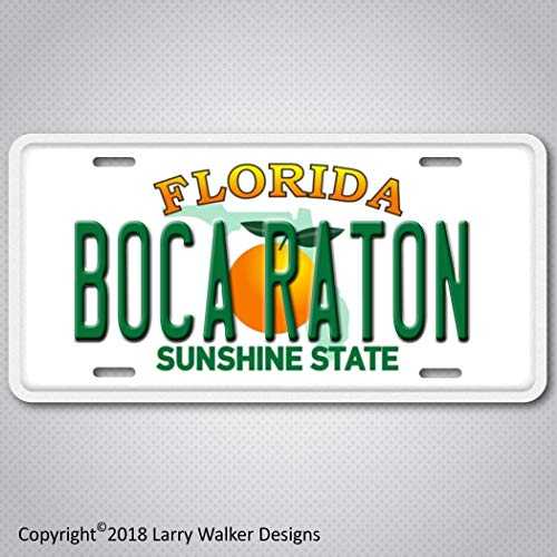 Boca Raton on Florida plate Aluminum License Plate Tag (Raton Boca Stores)