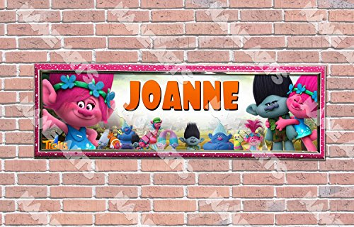 Personalized Trolls Movie Birthday  Banner