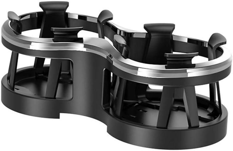 langlebiger Innenraum Verstellbarer Auto-Becherhalter Free Size platzsparend Ganquer 2-in-1-Design doppeltes Loch Auto-Getr/änkehalter Schwarz Flasche