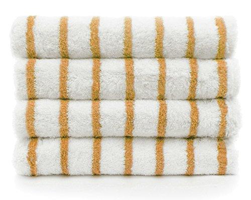 Indulge Large Beach and Pool Towel, Thin Stripe, 100% Turkish Cotton (30x60 inches) (4, Salmon - Thin Stripes) - Salmon Stripe