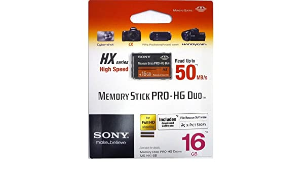 Amazon.com: Sony Memory Stick PRO-HG Duo HX Memory Card ...