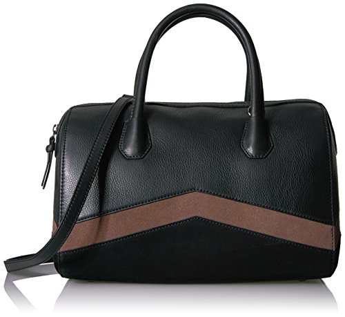 The Fix Bailee Color Block Top Handle Satchel Bag, Black/Black by The Fix