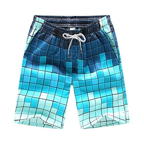 STAZSX Apparel Pantalones Casuales de Verano Playa Pantalones de Playa Pantalones Cortos de Secado rápido Mosaico Mosaico
