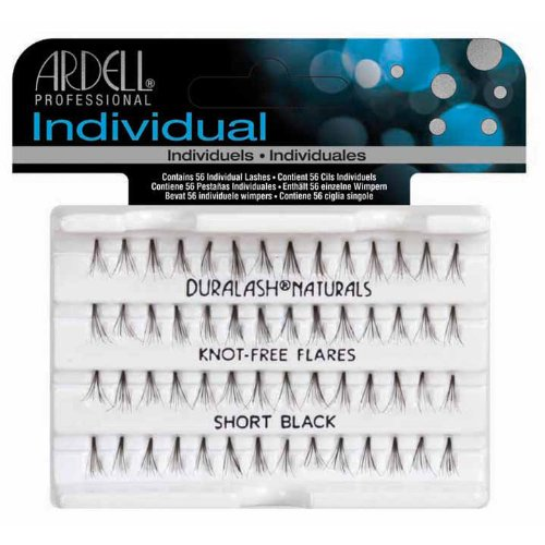 Ardell Individual Natural Lashes Knot Free - Short Black 56 Individual Lashes 65050