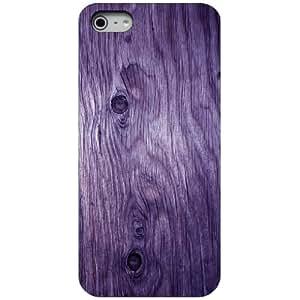 CUSTOM Black Hard Plastic Snap-On Case for Apple iPhone 5 / 5S - Purple Weathered Wood Grain