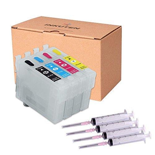 INKUTEN 4 Refillable Cartridges for 69 T069 T069120 T069220 T069320 T069420 Auto Reset Chips (Empty)