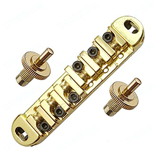 TOOGOO(R) Golden Abr-1 Style Tune-o-matic Bridge & Tailpiece Gold for Gibson Les Paul Gear (Abr 1 Tune O-matic Bridge)