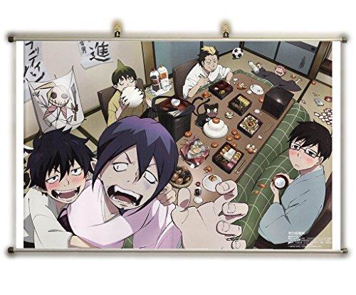 Canvas Wall Scroll Poster (32x20 inches)-Anime Blue Exorcist Yukio Okumura Renzo Shima Ryuji Suguro Rin Okumura Mephisto Pheles Amaimon Ao No Exorcist Ao No Exorcis_ (Blue Exorcist Mephisto compare prices)