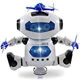 robot 3 year old - Kidsthrill Dancing Robot -Musical And Colorful Flashing Lights Kids Fun Toy Figure - Spins And Side Steps