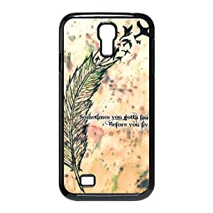 Fashion Funny Sometimes You Gotta Fall Quote Samsung Galaxy S4 I9500 Case Cover Birds