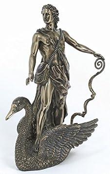 PTC 11 Inch Apollo Riding a Swan Greek God Resin Statue Figurine