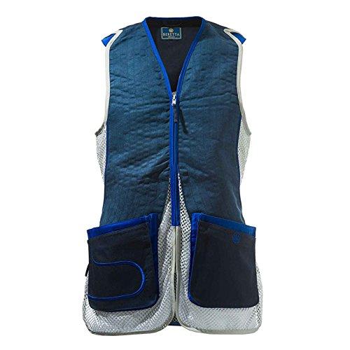 Beretta Men's Dt11 Mesh Eco Suede Vest, Black/Grey, (Classic Suede Vest)