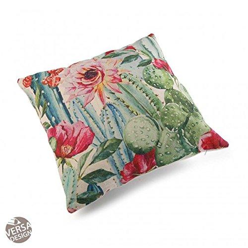 Versa Kaktus - Cojín (con Relleno, 45 x 45 cm, Verde Rosa ...