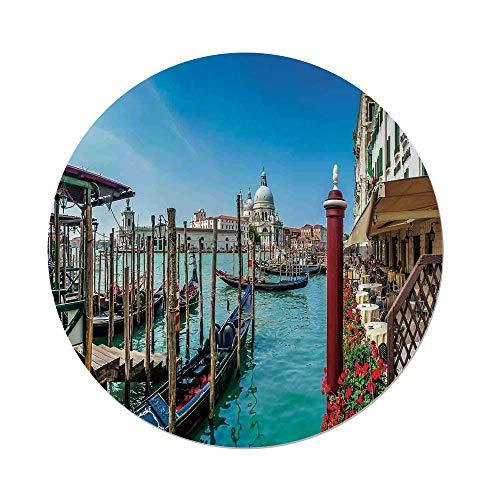 nd Tablecloth,Wanderlust Decor,Gondola on Canal Grande Basilica di Santa Maria Della Salute Sunny Day in Venice,Dining Room Kitchen Picnic Table Cloth Cover,for Outdoor Indoor ()