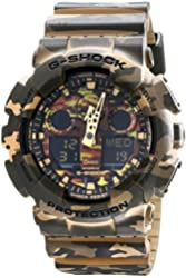 Casio G-Shock Camouflage Dial Resin Quartz Men's Watch GA100CM-5A