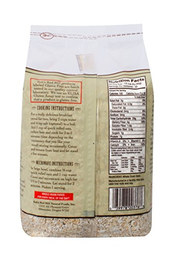 Bobs Red Mill Gluten Free Quick Cooking Oats, 2.13 Pound by Bob's Red Mill (Image #3)