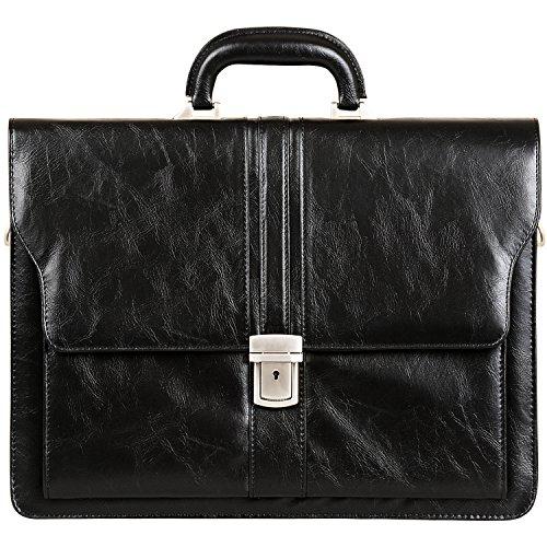 Jack&Chris PU Leather Briefcase Messenger Bag Laptop Bag, MBYX010
