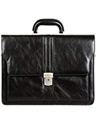 Jack&Chris PU Leather Briefcase Messenger Bag Laptop Bag, MBYX011