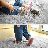 Super Soft Fluffy Nursery Rug From YOH Grey Rugs