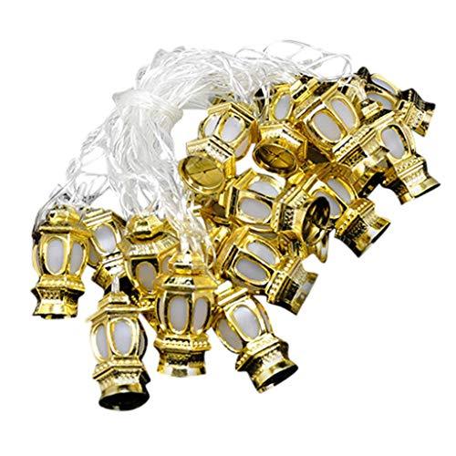 ❤️Ywoow❤️, Ramadan/Eid Deluxe Indoor LED Light String Golden Lanterns