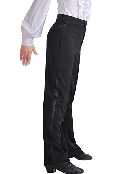 92d2235f1acd8 Daydance Boy's Latin Pants Ballroom Salsa Tango Modern Dance Trousers Long  and not Hemmed Leggings