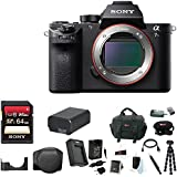 Sony Alpha a7SII Mirrorless Digital Camera (Body Only) + Sony 64GB SD Memory Card + LCSELCB/B Soft Carrying Case (Black) + Lithium Ion Battery + Travel Charger + Camera Digital SLR Camera Bag Bundle