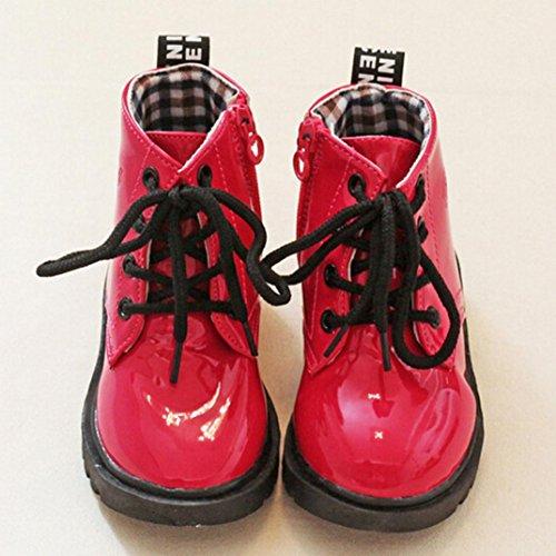 Hunpta Kinder Mode Jungen Mädchen Martin Sneaker Winter Dick Schnee Baby Casual Schuhe Rot
