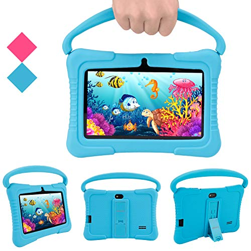 Android Tablets Pc Veidoo 7 Inch Kids Tablet With 1gb Ram 16gb Storage Safety Eye Protection Ips Screen Premium Parent Control Pre Installed Educational App Best Gift For Children Blue