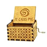 Sooye Moana Music Box- Upgraded Version 18 Note Antique Carved Hand Crank Music Box (How far I'll Go)