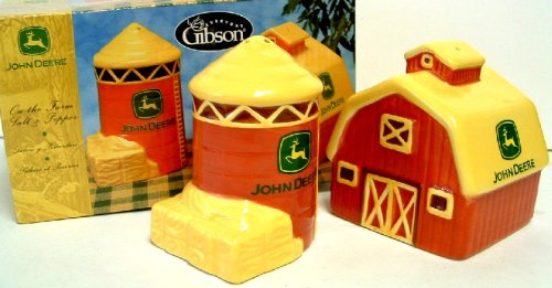 John Deere Farm ceramic Salt & pepper shaker set ()