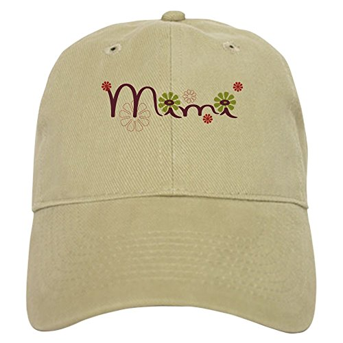 CafePress Mimi with Flowers Cap Baseball Cap with Adjustable Closure, Unique Printed Baseball Hat ()